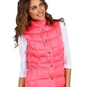 Lilly Pulitzer Lauren Pink Salmon Puffer Vest XS